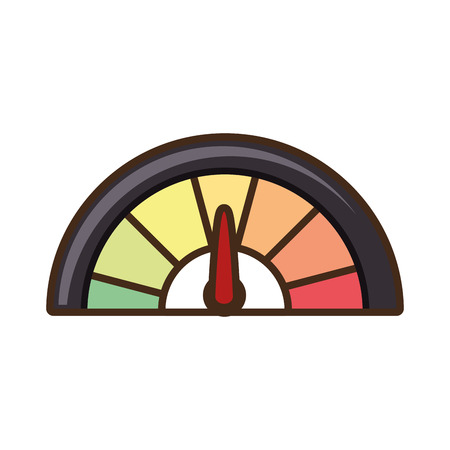 needle valve: pressure gauge isolated icon vector illustration design Illustration