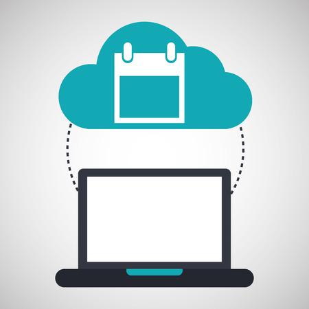 compatibility: computer cloud calendar connection network vector