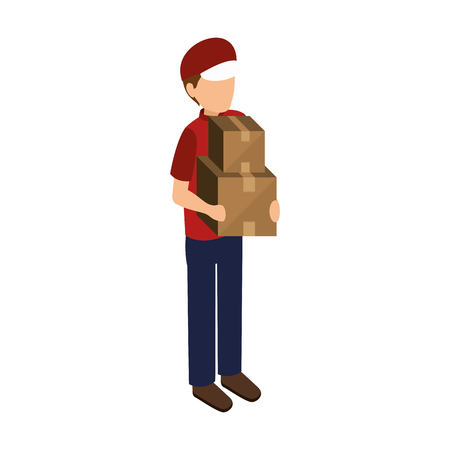 courier delivery avatar icon vector illustration design