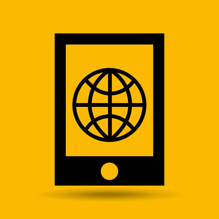 saas: device transfer cloud global world vector illustration