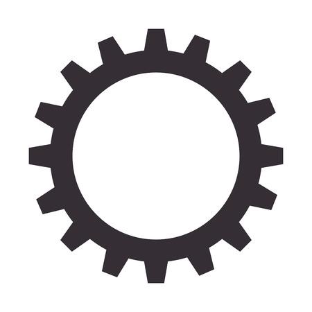 gear setting isolated icon vector illustration design Illusztráció