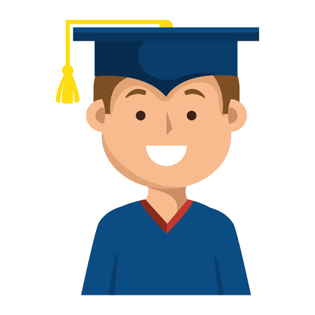 student graduation uniform icon vector illustration design