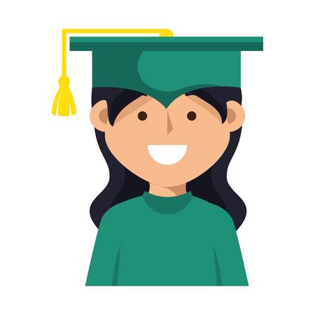 graduación de estudiantes icono de ilustración vectorial de diseño uniforme