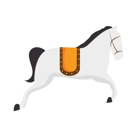 entertainment icon: circus horse entertainment icon vector illustration design Illustration