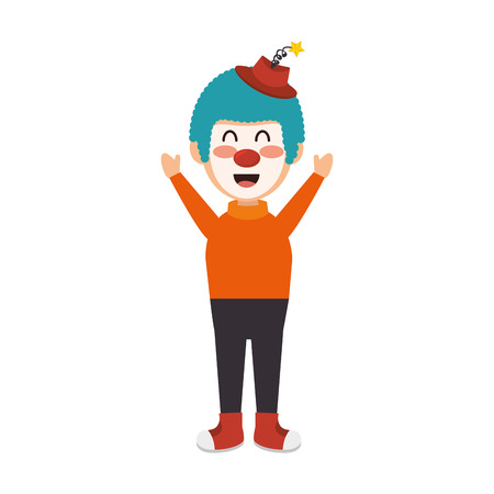 circus clown character isolated icon vector illustration design Illustration