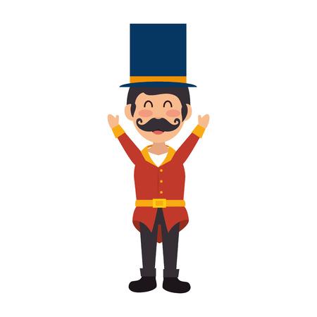 master: Circus ceremony master icon vector illustration design
