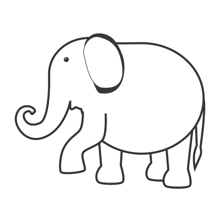 entertainment icon: elephant circus entertainment icon vector illustration design Illustration