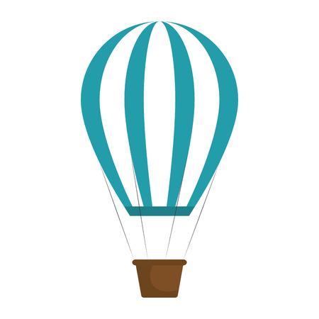 balloon air hot travel vector illustration design Illustration