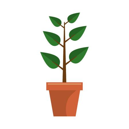 plant pot: plant garden pot icon vector illustration design Illustration