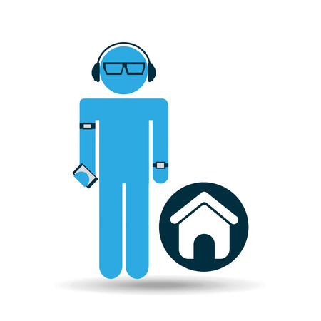 man web page technology wearable vector illustration eps 10