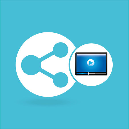 video beam player share design vector illustration eps 10 Illustration
