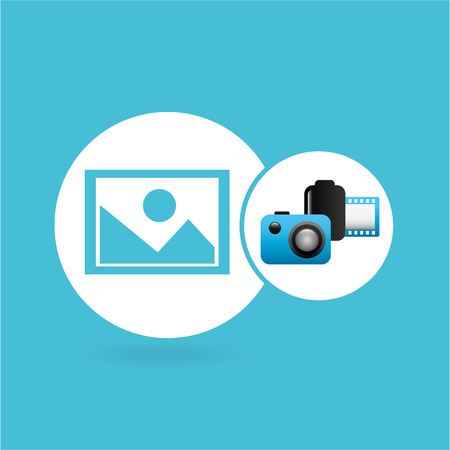photographic camera image negative roll vector illustration eps 10 Illustration