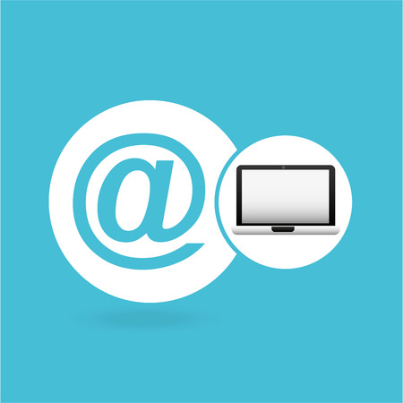 laptop mail network icon vector illustration eps 10