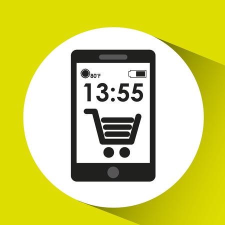 cellphone internet e-commerce network media icon vector illustration eps 10