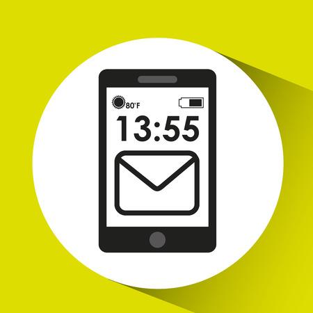 cellphone internet email network media icon vector illustration eps 10
