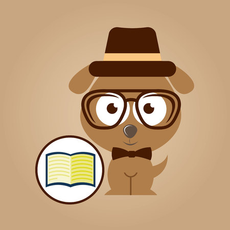 concept hipster book read vector illustration eps 10