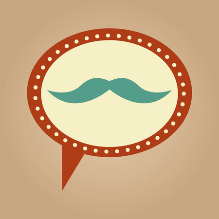 symbol hipster moustache fashion icon vector