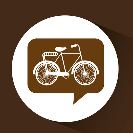 bicycle symbol vintage color icon vector illustration