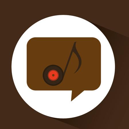 vinyl music note icon symbol design