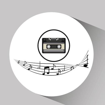 music cassette vintage background Illustration