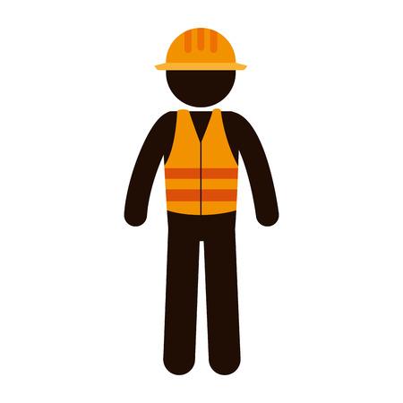 builder constructor character icon vector illustration design Illustration