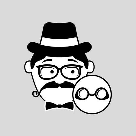 hipster style round glasses trendy fashion vector illustration