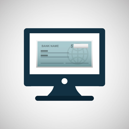 bank check template icon graphic vector illustration