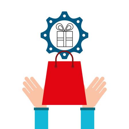 e-commerce business gift money design icon vector illustration eps 10