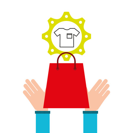 finance department: e-commerce business tshirt money design icon vector illustration eps 10