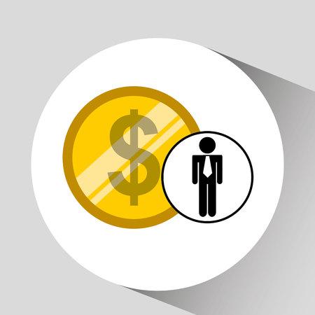 pile of money: business man pile money icon vector illustration eps 10