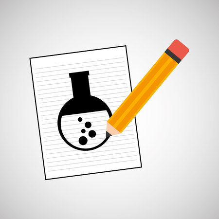 toxicology: research chemical test tube laboratory icon vector illustration Illustration