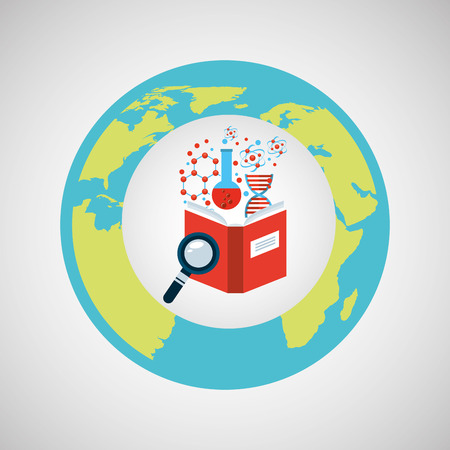 concept science lab search icon graphic vector illustration eps 10