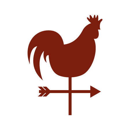 weathervane: rooster air measure icon vector illustration design
