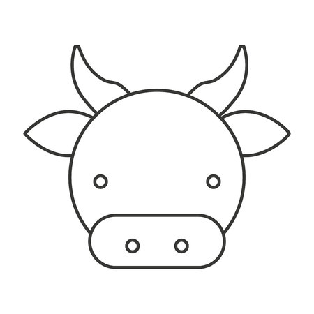 holstein: farm cow isolated icon vector illustration design