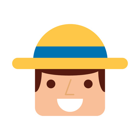 agrarian: farmer character isolated icon vector illustration design