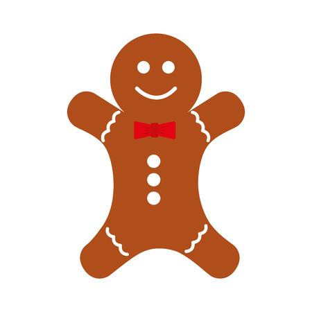 navidad pan de jengibre icono ilustración decorativa de diseño vectorial Ilustración de vector