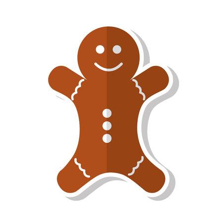christmas ginger bread decorative icon vector illustration design Illustration