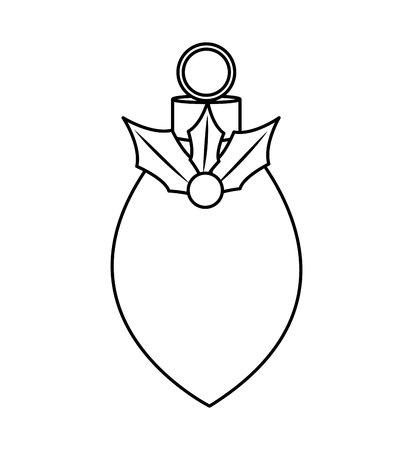 christmas ball decorative icon vector illustration design