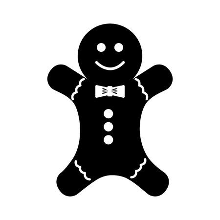 ginger bread: christmas ginger bread decorative icon vector illustration design Illustration