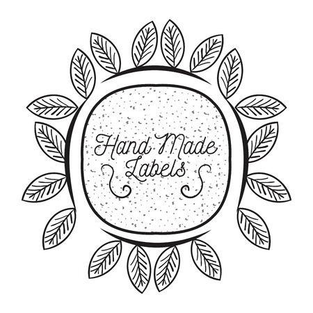 specially: hand made label monochrome icon vector illustration design Illustration