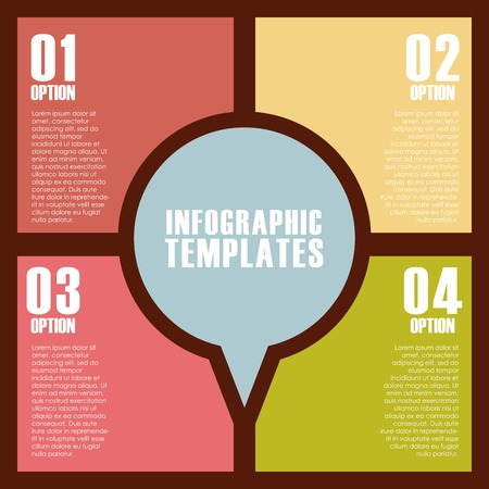 demographics: colorful infographic template with presentation with numbers. vector illustration