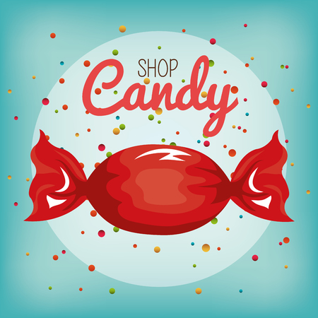 candy sweet isolated icon vector illustration design