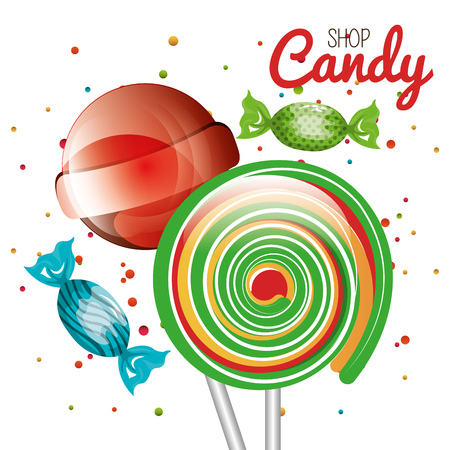 lollipop candy sweet isolated icon vector illustration design