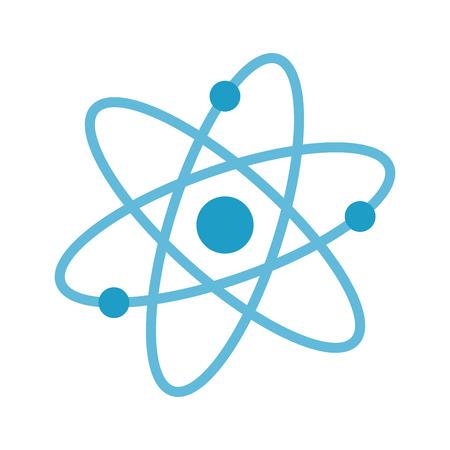 molecola atomo isolato icona illustrazione vettoriale progettazione