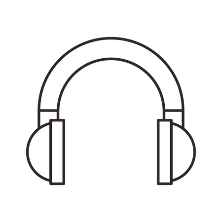 portable audio: headset sound device isolated icon vector illustration design