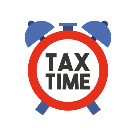 alarm clock tax time isolated icon vector illustration design Illustration