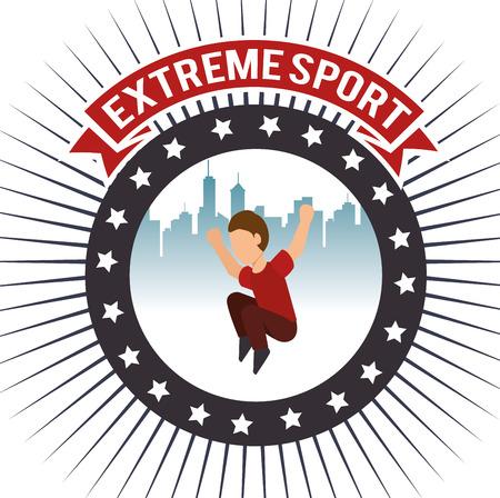 parkour: parkour extreme sport urban background label