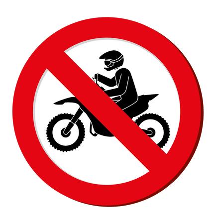 interdiction: aucun signe moto interdiction vecteur de conception illustration