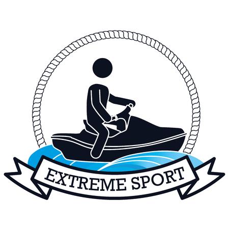 extreme sport jet ski banner design vector illustration