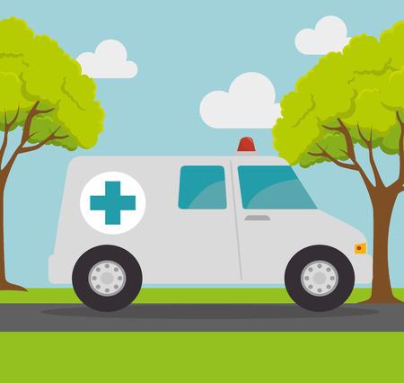 ambulance transport emergency landscape background